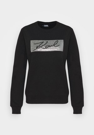 RHINESTONE SIGNATURE - Sweatshirt - black