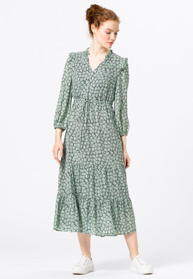 MIT VOLANTS - Korte jurk - dusty mint