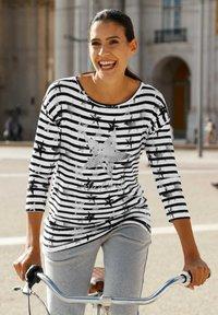 Laura Kent - Long sleeved top - schwarz weiß - 3