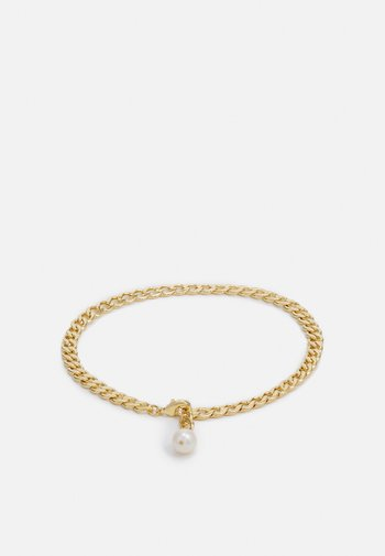 FLAT CURB LINK DROP ANKLET - Other accessories - gold-coloured