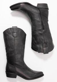Felmini Wide Fit - GERBBERA - Cowboy/Biker boots - lavado black - 3
