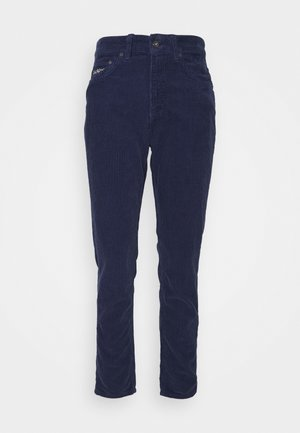 SLIM TROUSERS - Trousers - navy