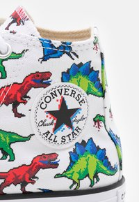 Converse - CHUCK TAYLOR ALL STAR DIGITAL DINOVERSE UNISEX - High-top trainers - white/bold wasabi/digital blue - 5