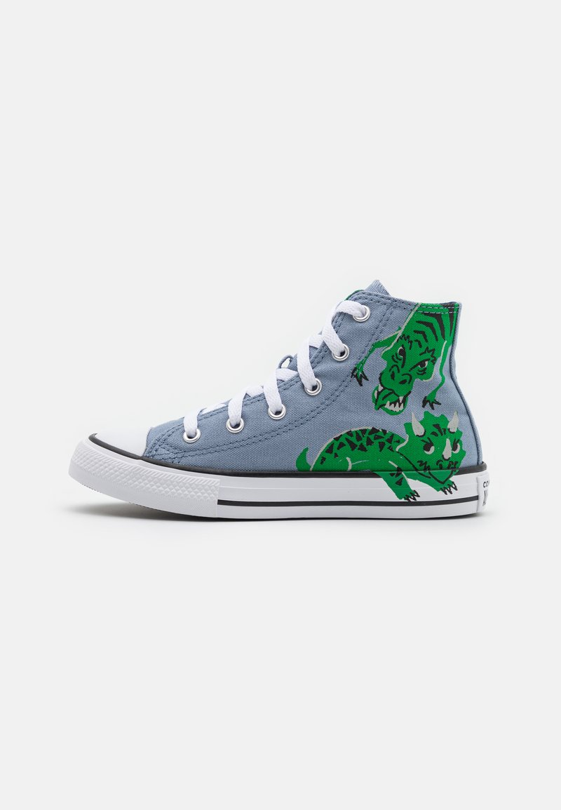 Converse - CHUCK TAYLOR ALL STAR DINO DAZE UNISEX - Sneakers alte - blue slate/midnight navy/green