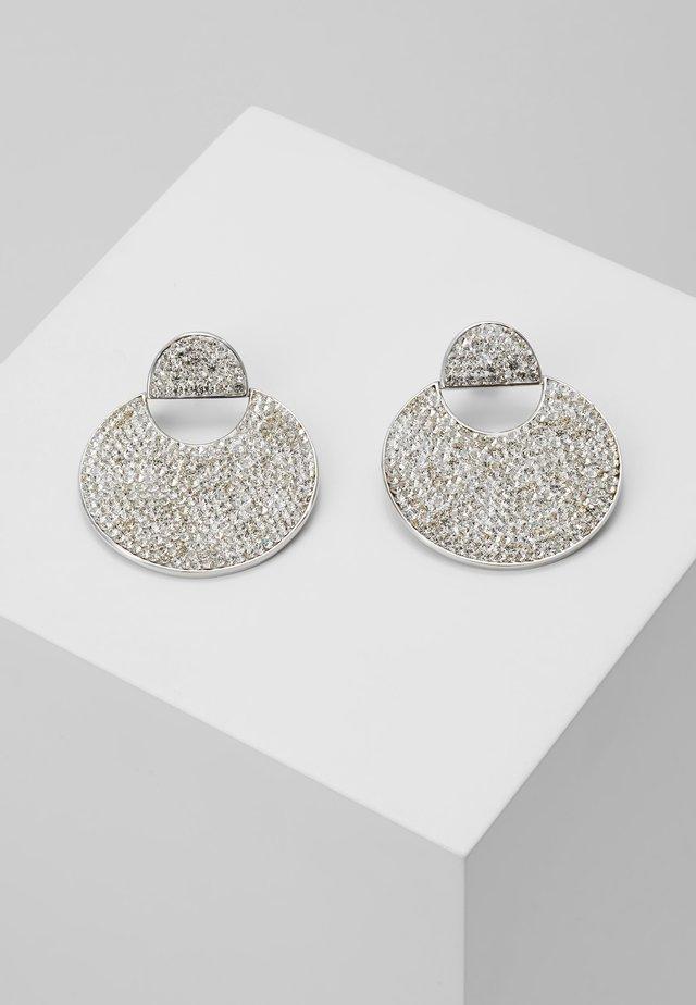 PAVE DROP EARRINGS - Earrings - clear