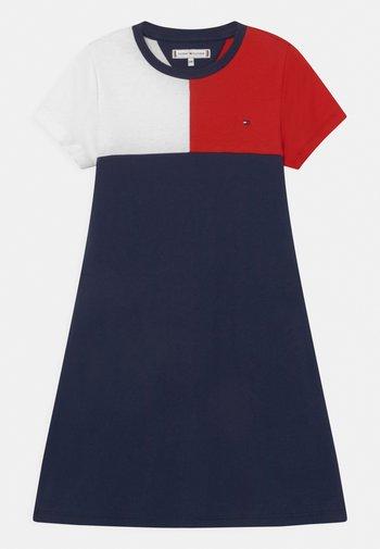 STRIPE  - Vestito di maglina - twilight navy