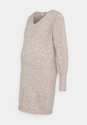 PCMPAM VNECK DRESS - Jumper dress - warm taupe