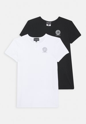JUNIOR 2 PACK UNISEX - T-shirt print - bianco/nero