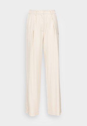 ESMARINA WIDE LOOSE PANTS - Trousers - bleached sand