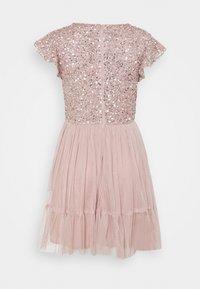 Maya Deluxe - DELICATE SEQUIN RUFFLE SLEEVE MINI DRESS - Sukienka koktajlowa - frosted pink - 1