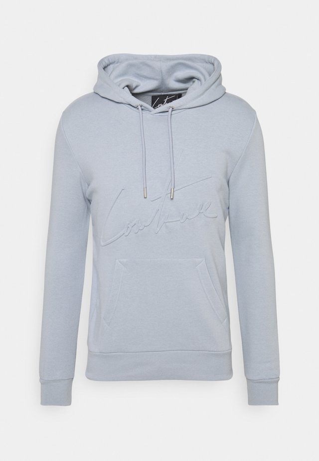 3D SIGNATURE SLIM FIT HOODIE - Sweatshirt - light blue