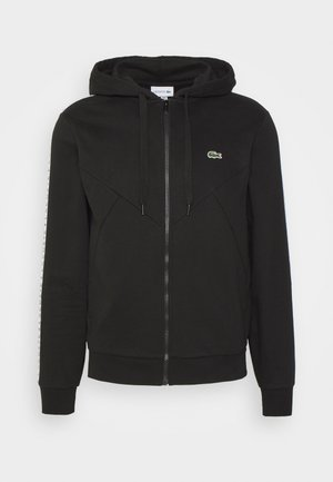 TAPERED - Zip-up sweatshirt - black