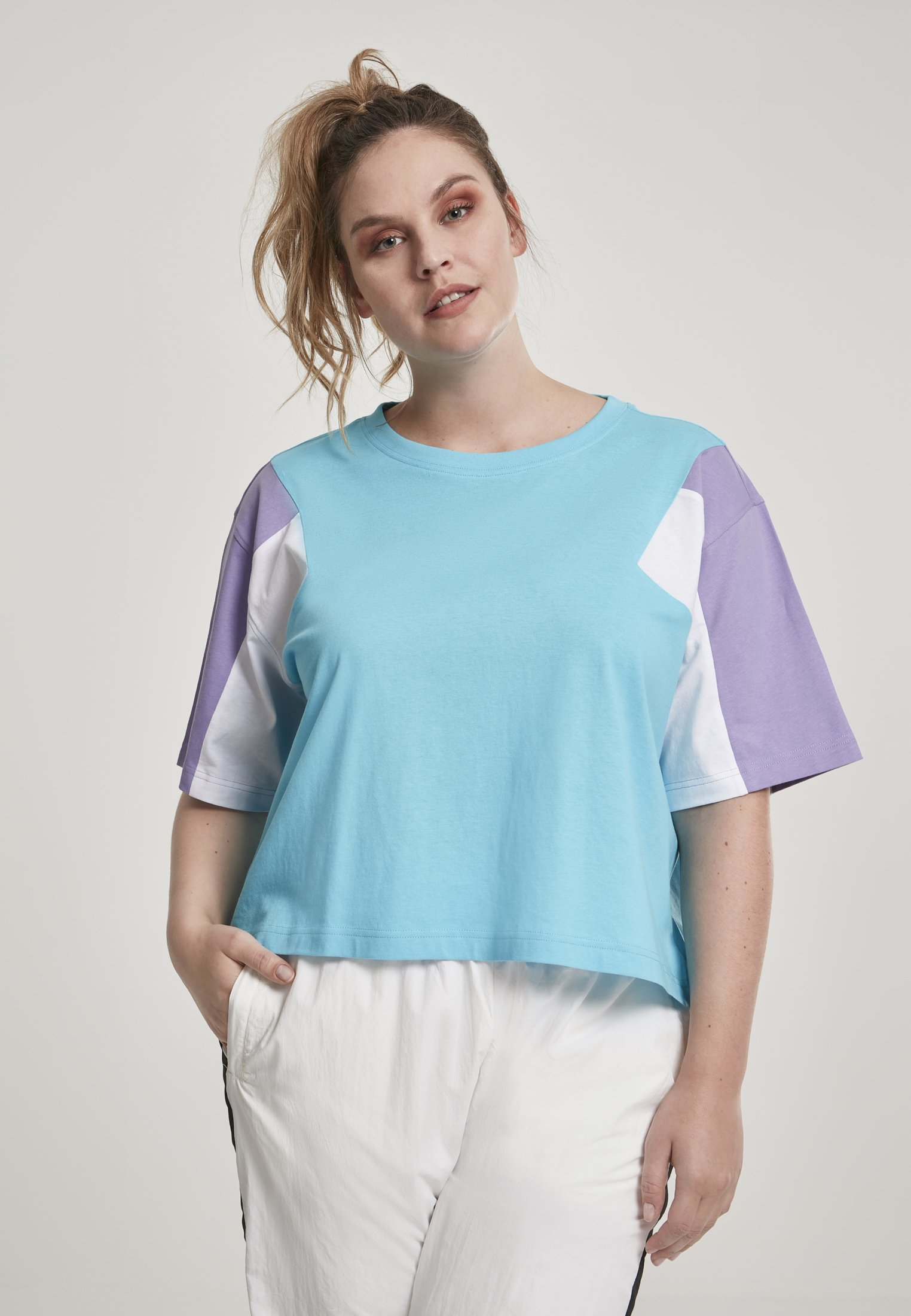 Damen 3-TONE SHORT - T-Shirt print