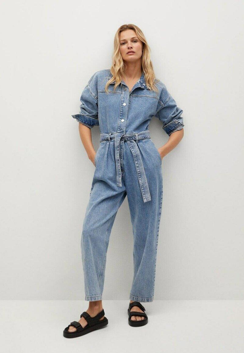 Mango - Jumpsuit - medium blue