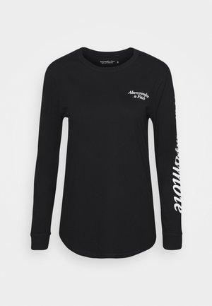 ITALIC LOGO TEE - Bluzka z długim rękawem - black