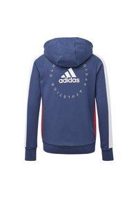 adidas Performance - ADIDAS ATHLETICS CLUB  HOODIE - Felpa aperta - blue - 1