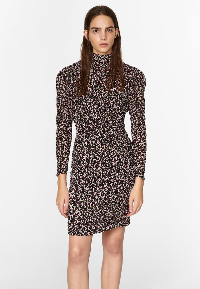 WITH ANIMAL PRINT - Day dress - animal print multicolor pink