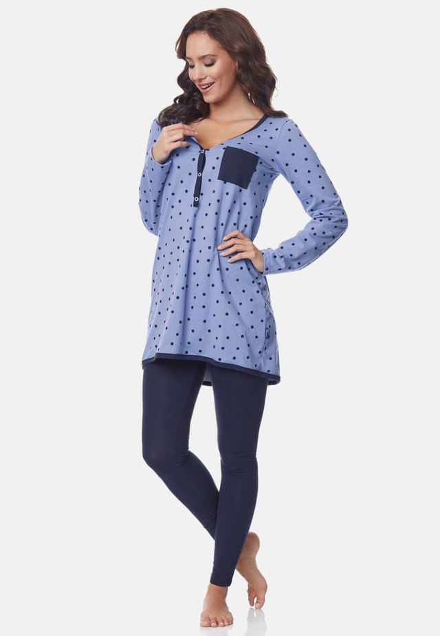 Pyjama - blue-Dots-Navy