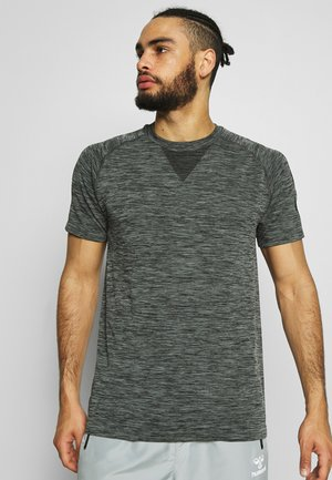 WES SEAMLESS  - T-shirts basic - black iris