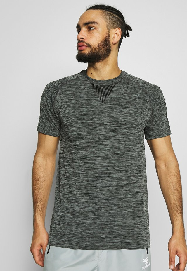 WES SEAMLESS  - T-shirt basic - black iris
