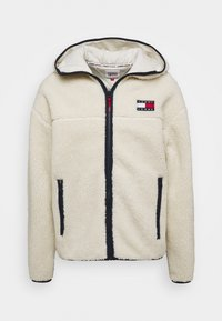 Tommy Jeans - SHERPA ZIP THRU HOODIE - Fleece jacket - ecru - 0