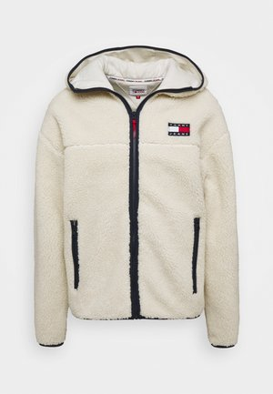 SHERPA ZIP THRU HOODIE - Fleece jacket - ecru