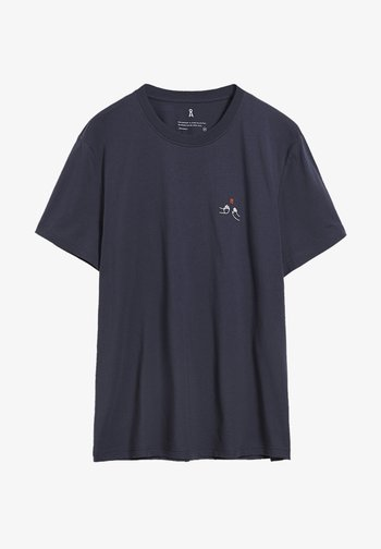 Basic T-shirt - light pacific ink