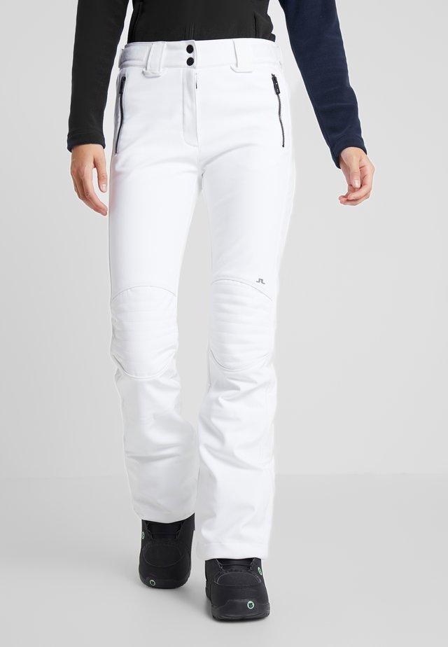 STANFORD - Spodnie narciarskie - white