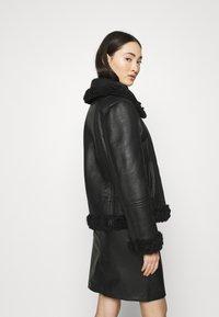 Diesel - EYRE - Leather jacket - black - 2