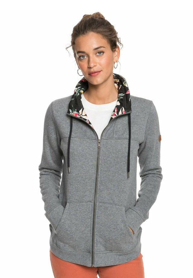 BOAT TRIP - Sweater met rits - charcoal heather