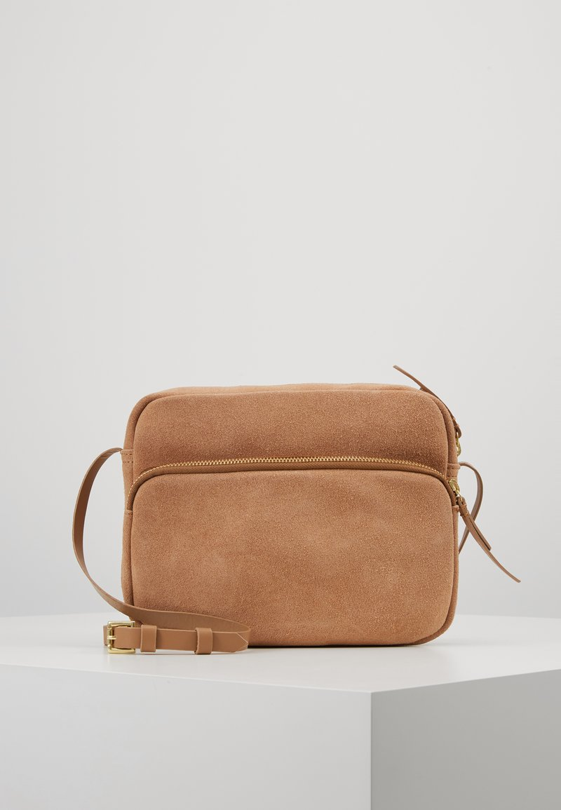 Zign - LEATHER - Across body bag - tan