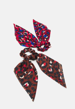 PCHADIS BOW SCRUNCHIE 2 PACK - Haar-Styling-Accessoires - cherry tomato