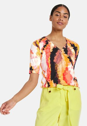 Print T-shirt - papaya gemustert