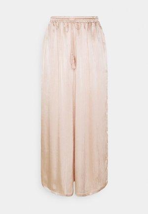 MODESTY WIDE LEG TROUSERS - Pantalones - stone