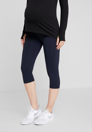 CORE CAPRI OVER BELLY TIGHT - 3/4 sports trousers - navy