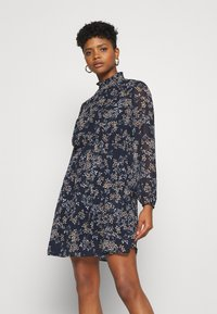 Vero Moda - VMVILDE SHORT DRESS - Day dress - navy blazer - 0