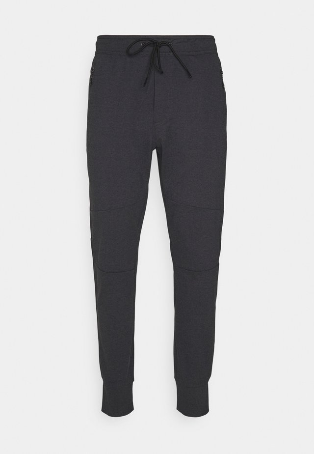 INVISIBLE ZIPPERS CUT ON CROSS GRAIN - Tracksuit bottoms - charcoal heather gray