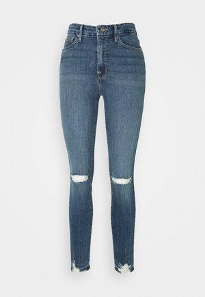 LEGS CHEWED HEM - Skinny džíny - blue