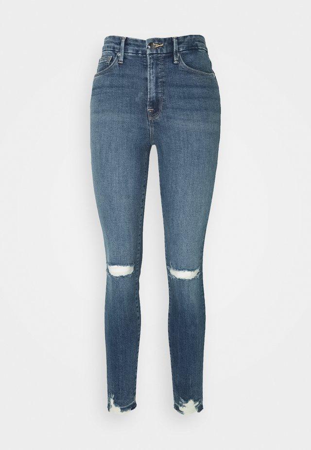 LEGS CHEWED HEM - Jeans Skinny Fit - blue