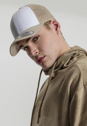 Cap - khaki and white