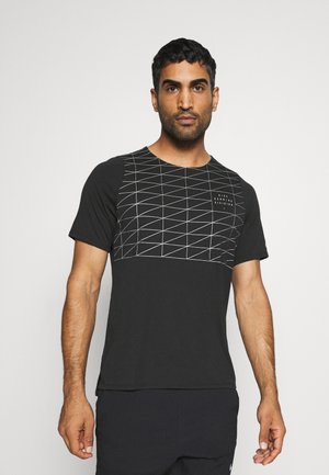 RISE - Print T-shirt - black/reflective silver