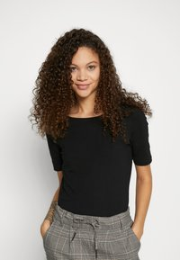 Anna Field Petite - BASIC CREW NECK  - T-paita - black - 0