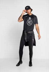 Nike Performance - FC AWAY - Print T-shirt - black/anthracite/white - 1
