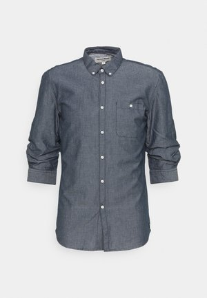 FIXED TURN UP - Shirt - navy/white