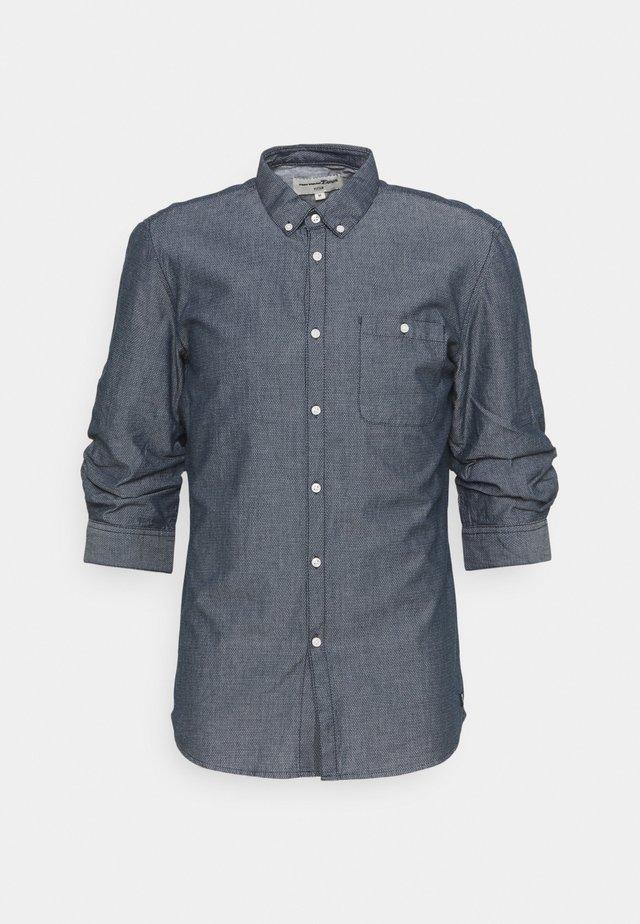FIXED TURN UP - Shirt - navy/white