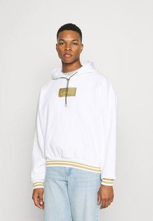 SMALL SIGNATURE BOX HOODIE UNISEX - Sweatshirt - white