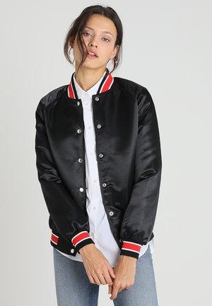 PADDED VARSITY - Bomber Jacket - black