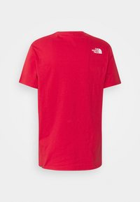 The North Face - M S/S EASY TEE - EU - T-shirt con stampa - rococco red - 1