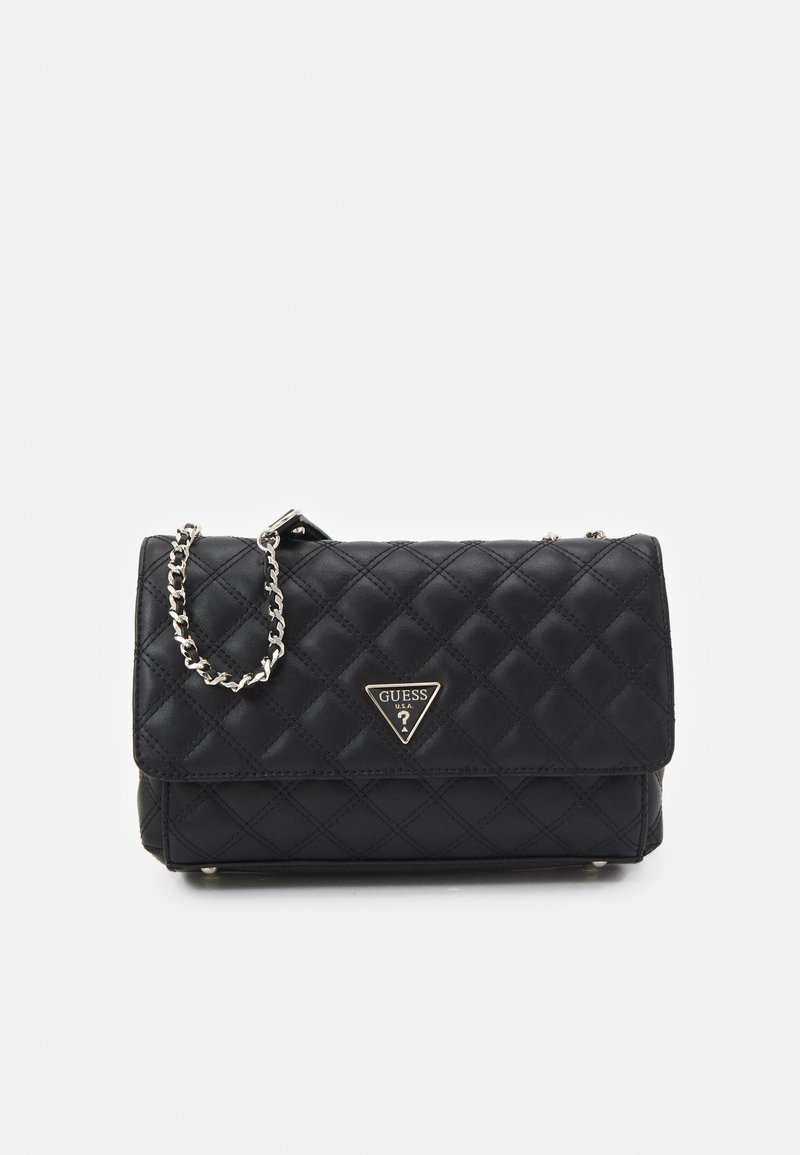 Guess - CESSILY CONVERTIBLE XBODY FLAP - Across body bag - black