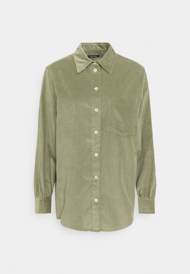 Button-down blouse - dried sage